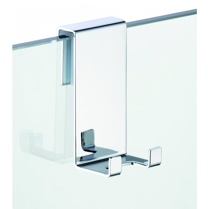 halter f r duschtrennwand mit 2 haken passend f r 6 8. Black Bedroom Furniture Sets. Home Design Ideas