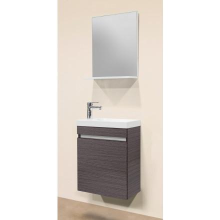Gästebadmöbel gäste badmöbel set maxi 4 tlg eiche silber ohne spiegelleuchte