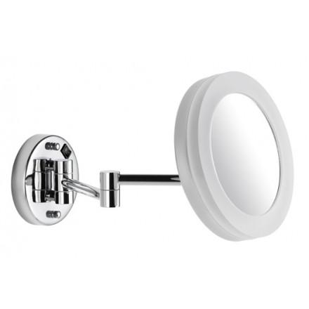 kosmetikspiegel wandmodell 5 fach rund 200mm led beleuchtung ip44 mit direktanschluss 2. Black Bedroom Furniture Sets. Home Design Ideas